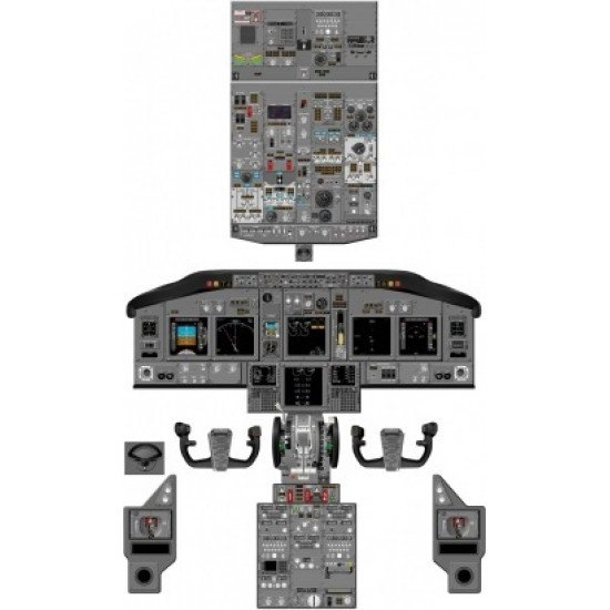 Кабина Boeing 737NG cockpit poster